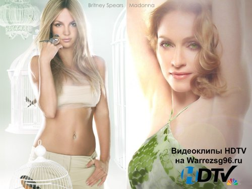 Клип Britney Spears feat. Madonna - Me Against the Music Full HD 1888x1008