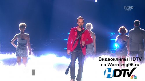Клип (Live) Vukasin Brajic - Thunder And Lightning HD 1280x720p (Bosnia & Herzegovina) (Eurovision 2010)