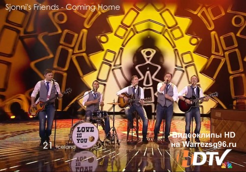 Клип (Live) 21 Sjonni's Friends - Coming Home HD 1280x720p (Eurovision 2011) Iceland